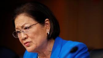 Senator Mazie Hirono (D-HI) questions Supreme Court nominee judge Neil Gorsuch during his Senate Judiciary Committee confirmation hearing on Capitol Hill in Washington, U.S., March 21, 2017.      REUTERS/Joshua Roberts