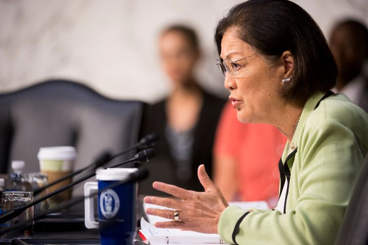 Sen. Mazie Hirono (D-Hawaii) noticed nobody was asking presidential nominees under oath if they've ever sexually harassed som
