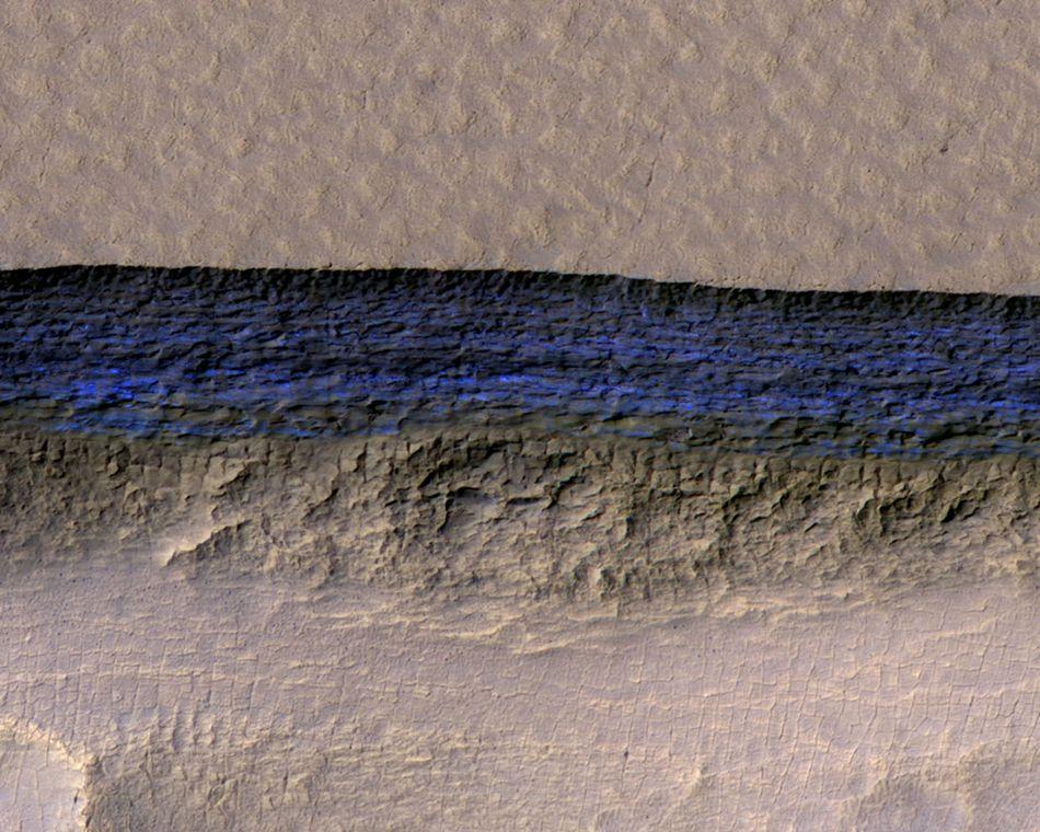 Το βαθύ μπλε χρώμα του πάγου