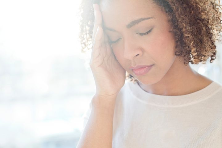 Tension headaches occur within the muscular areas of the head, the back of the scalp or the forehead, while a migraine happens within the brain itself.