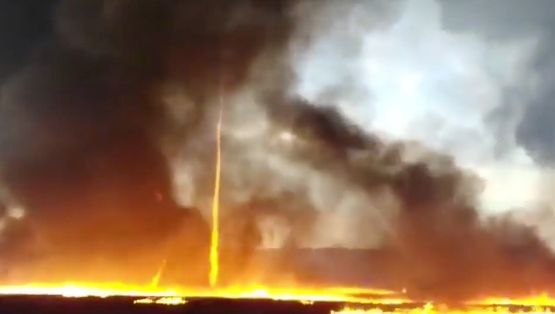 Firefighters have now released footage of the blaze.