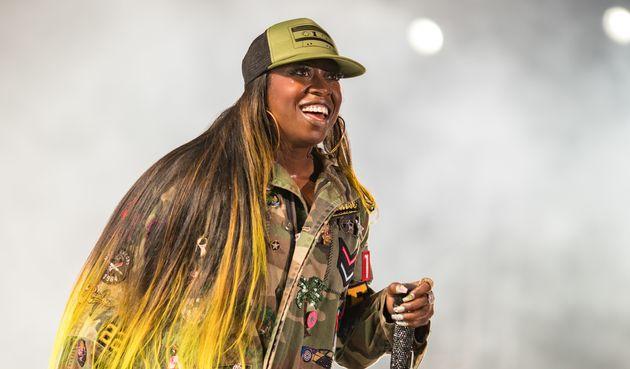 Missy Elliott performs onstage during at FYF Fest