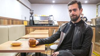 MELBOURNE, AUSTRALIA - APRIL 11: (AUSTRALIA OUT) Jack Dorsey, co-founder and CEO of Square and Twitter, is interviewed at Five & Dime Bagel on April 11, 2016 in Melbourne, Australia. Dorsey is visiting Australia for the first time. (Photo by Louis Ascui/Fairfax Media via Getty Images)