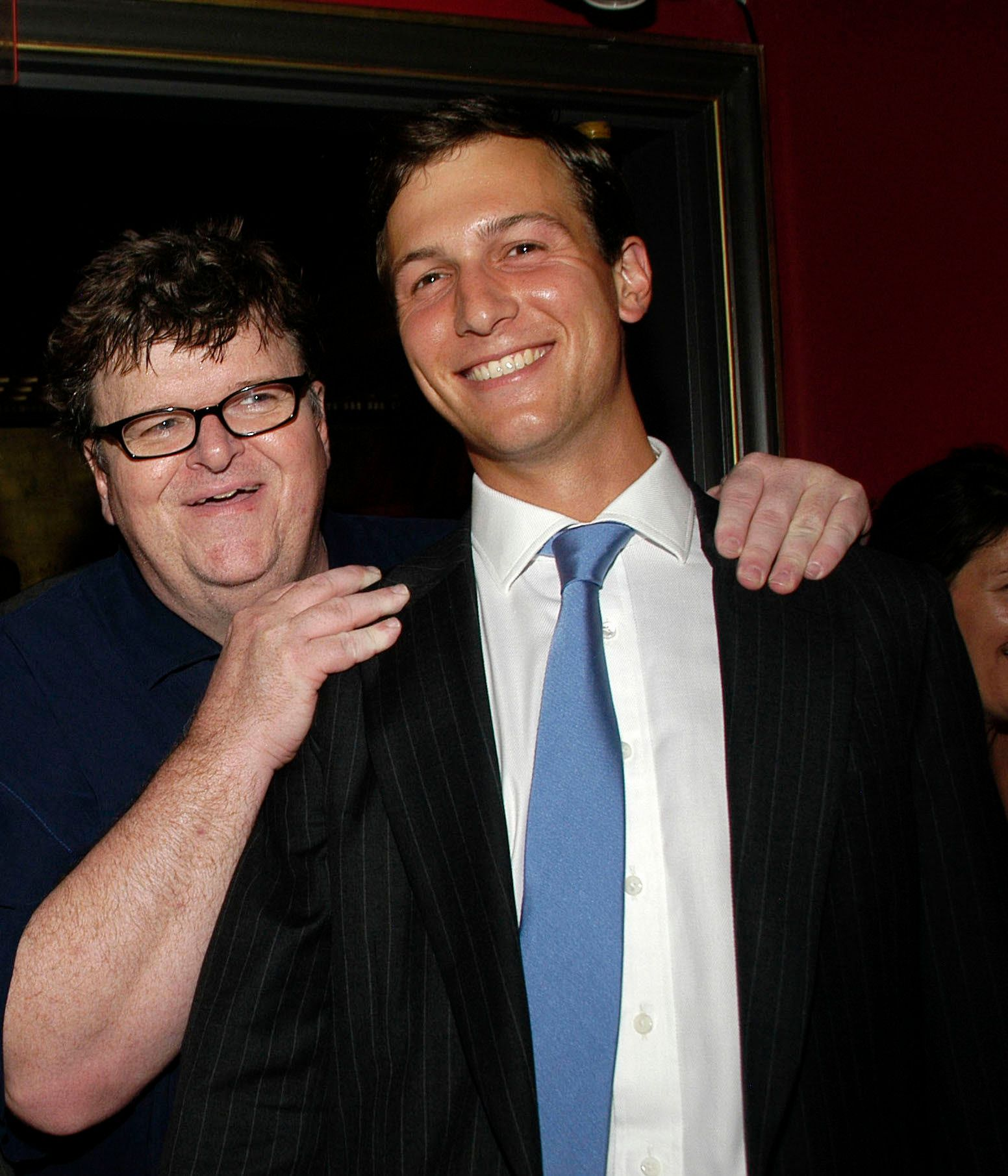 Michael Moore and Jared Kushner.