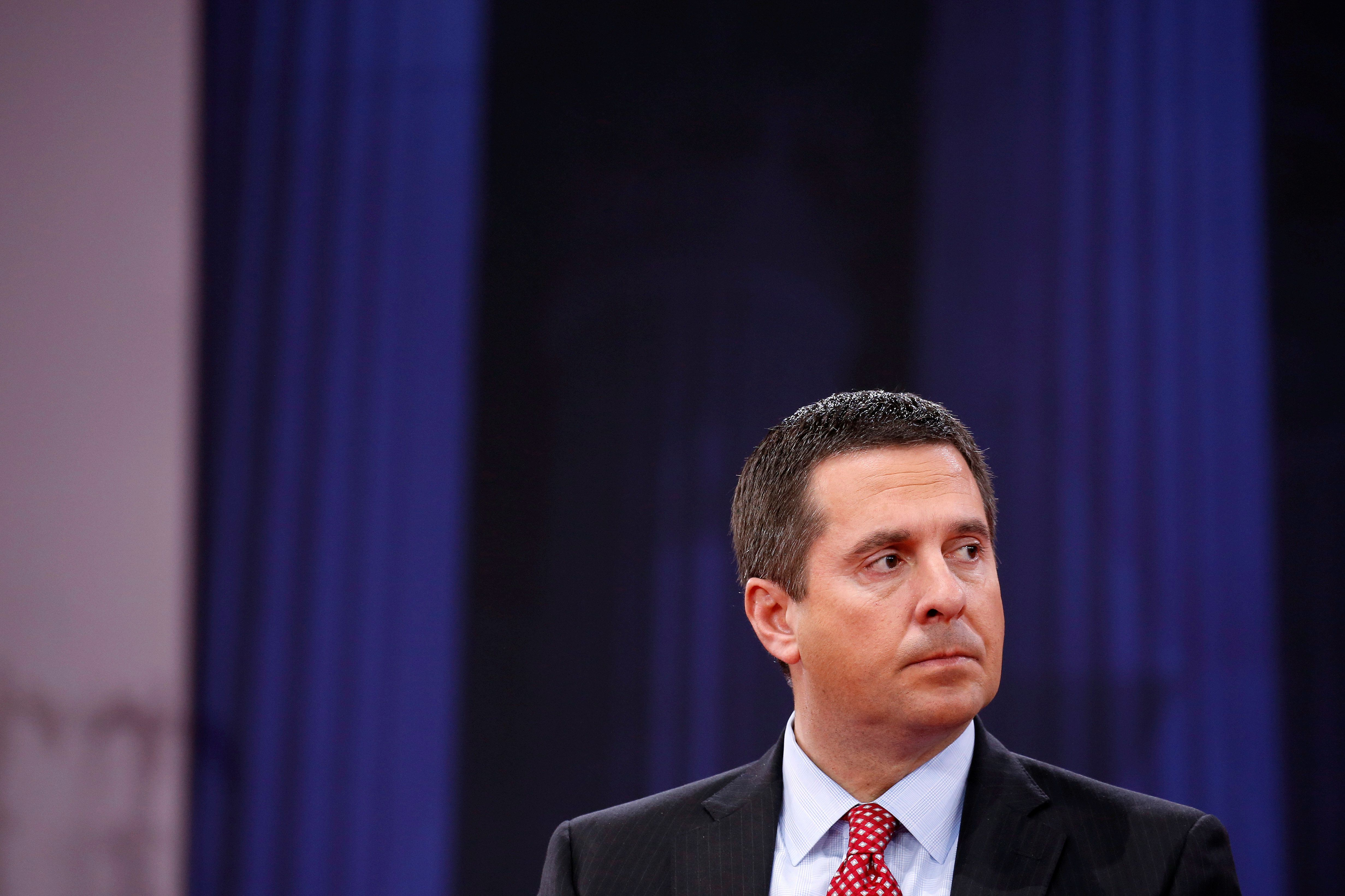 House Intelligence Committee Chairman Devin Nunes (R-CA) speaks at the Conservative Political Action Conference (CPAC) at National Harbor, Maryland, U.S., February 24, 2018.      REUTERS/Joshua Roberts