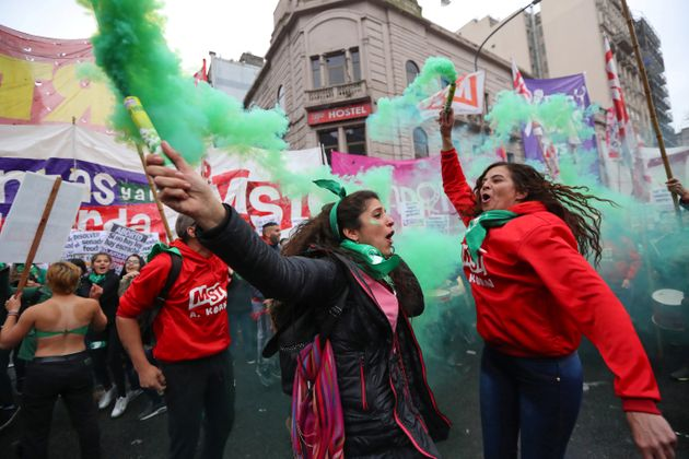 Abortion rights activists gathered ahead of the vote; abortion rights supporters have vowed to continue...