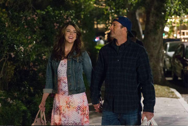 "Lauren Graham and Scott Patterson in ""Gilmore Girls."""