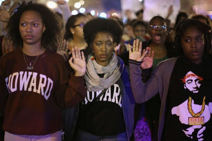 A grand jury's decision not to indict Darren Wilson in Michael Brown's death sparked nationwide demonstrations, including thi