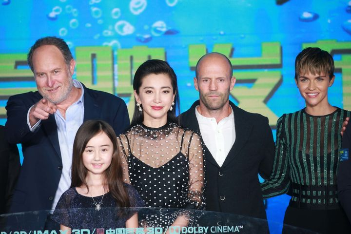 American film director and producer Jon Turteltaub, child actress Shuya Sophia Cai, actress Li Bingbing, English actor Jason