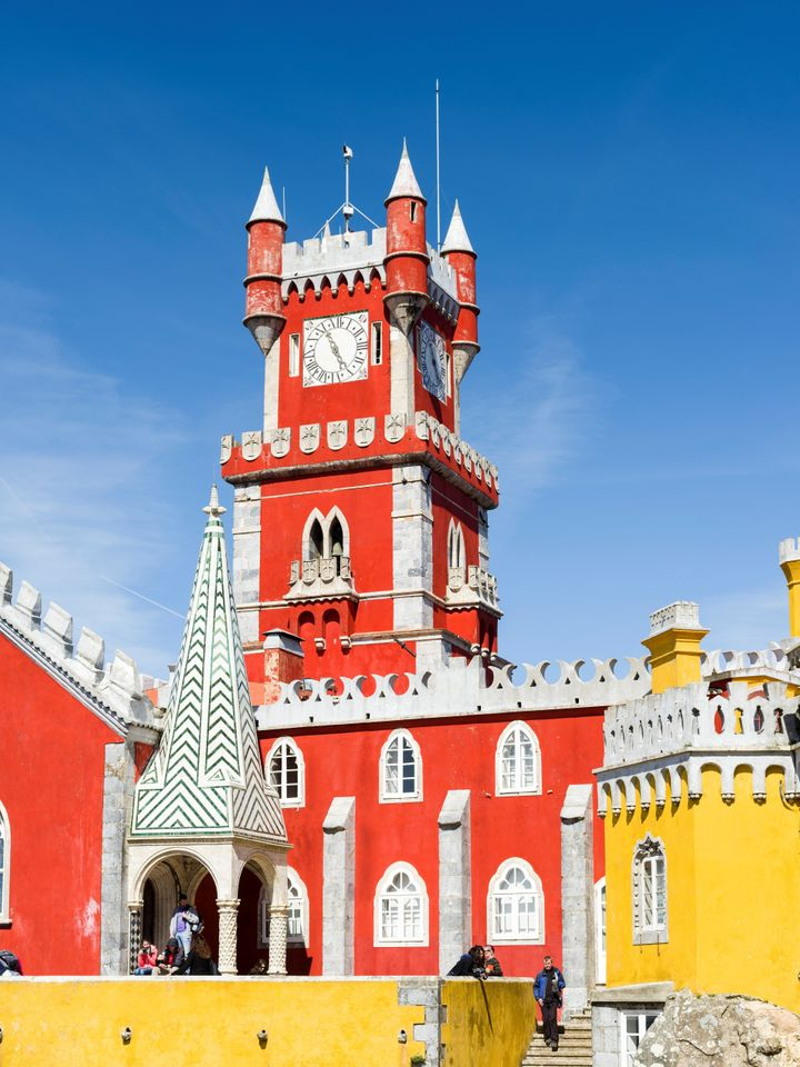 Visitors staying in Lisbon can take a day trip to Sintra to see the Pena Palace.
