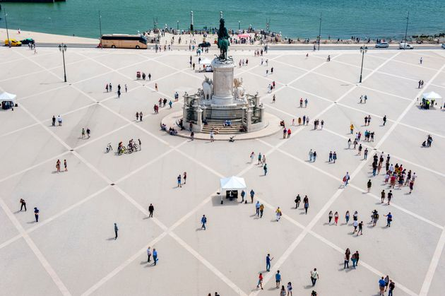 The Praça do Comércio is the main square in