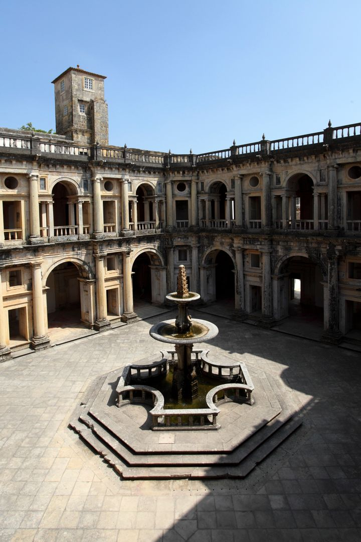 The Convent of Christ in Tomar boasts different styles of European architecture throughout its cloisters.