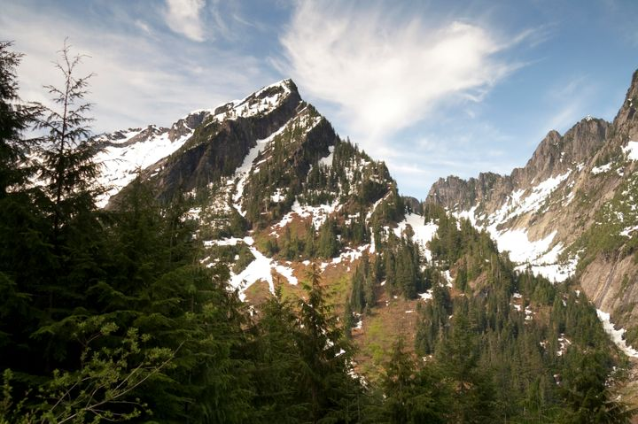 A ridge in Washington's North Cascade Range, in the area where Samantha Sayers is believed to have gone missing.