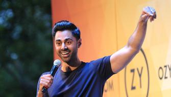NEW YORK, NY - JULY 21:  Hasan Minhaj performs onstage during OZY FEST 2018 at  Rumsey Playfield, Central Park on July 21, 2018 in New York City.  (Photo by Brad Barket/Getty Images for Ozy Media)