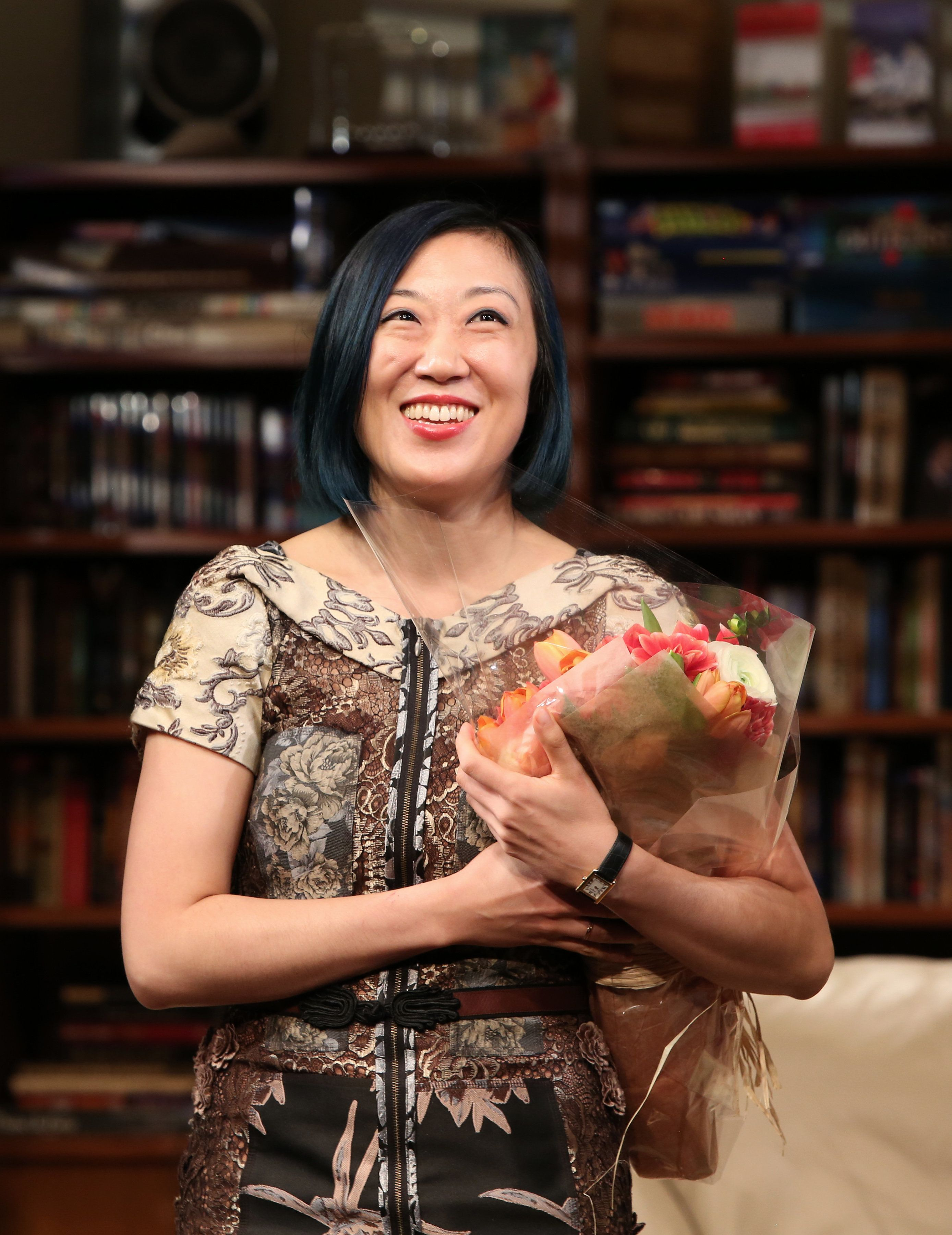 """Straight White Men"" playwright Young Jean Lee said she always aims to ""go out of my comfort zone"" through her work."