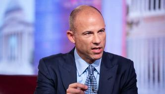 Michael Avenatti, lawyer of adult-film actress Stormy Daniels, speaks during a Bloomberg Television interview in New York, U.S., on Thursday, Aug. 2, 2018. Avenatti discussed the allegations against President Donald Trump. Photographer: Mark Kauzlarich/Bloomberg via Getty Images