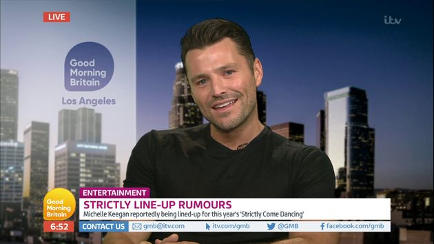 Mark Wright appeared on 'Good Morning