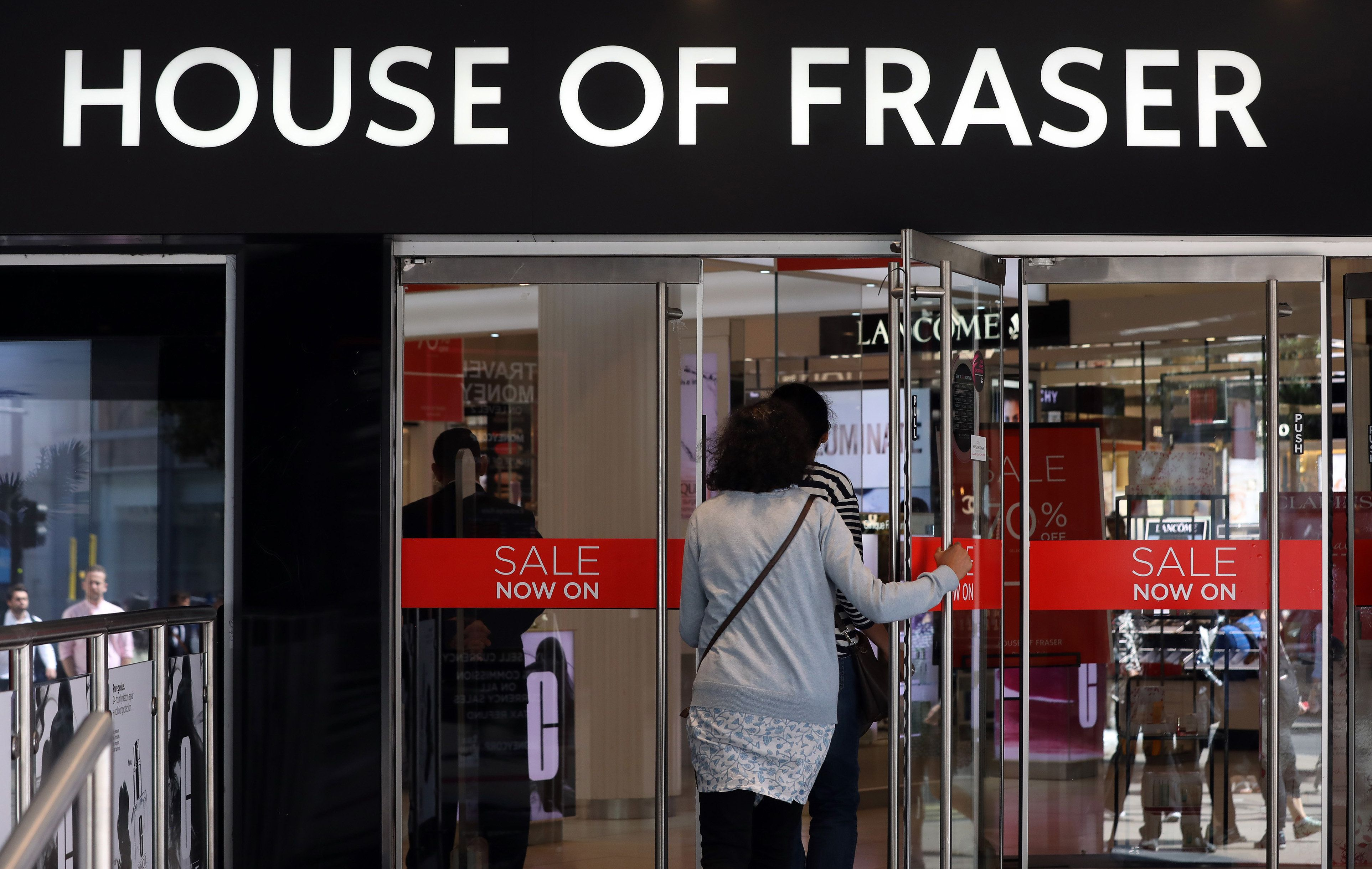 House of Fraser has cancelled all orders placed online