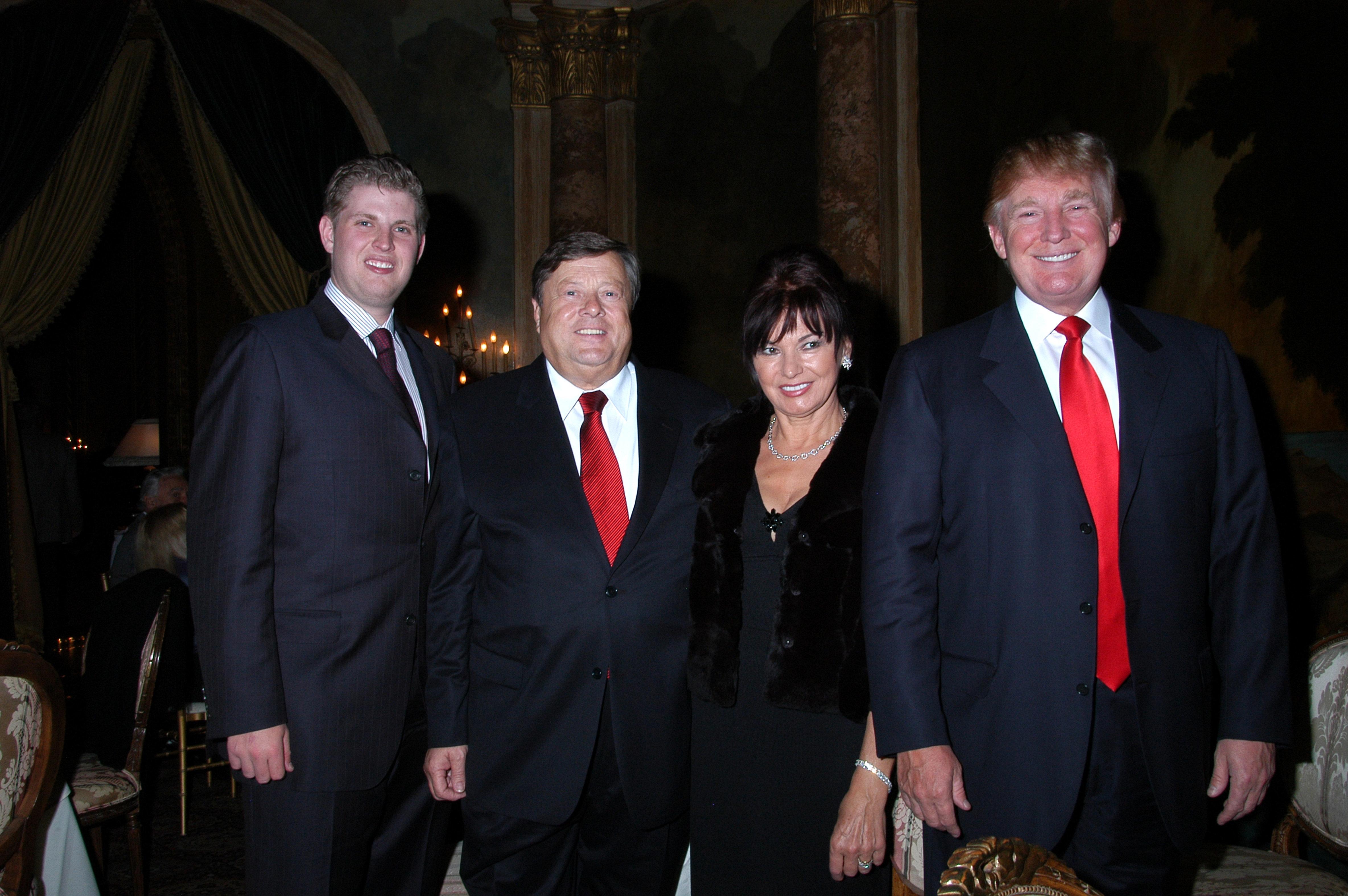 Eric Trump, Viktor Knavs, Amalija Knavs, and Donald Trump pictured in 2006.