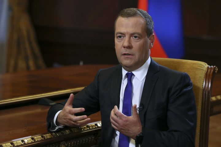 Russian Prime Minister Dmitry Medvedev blasted proposed curbs on the operations of several state-owned Russian banks in the U