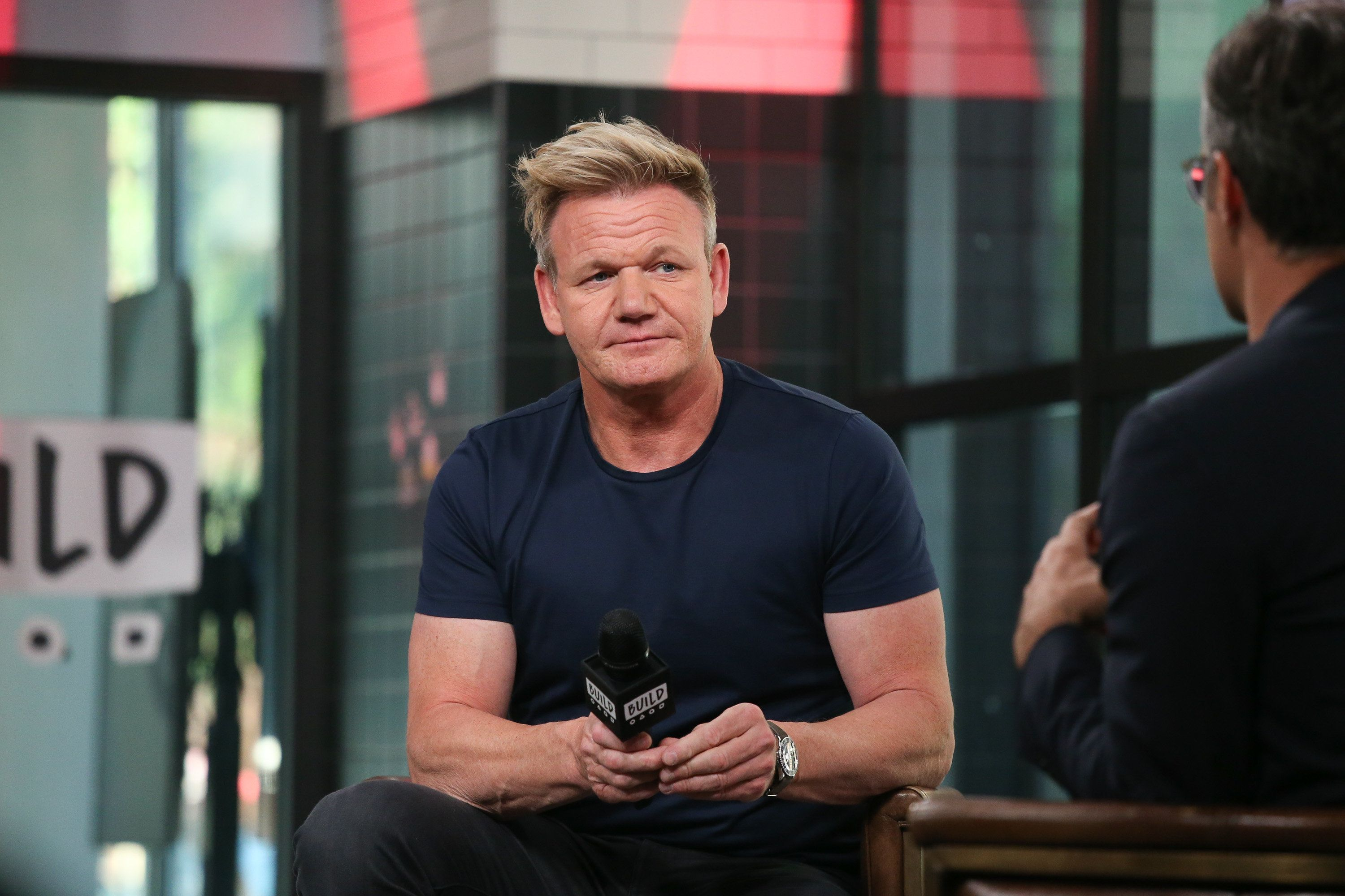 NEW YORK, NY - JULY 09:  Gordon Ramsay talks about '24 Hours to Hell and Back' at Build Studio on July 9, 2018 in New York City.  (Photo by Rob Kim/Getty Images)