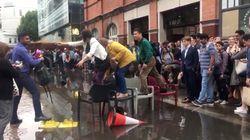 Ingenious Londoners Create Bridge To Cross Puddle Outside Hammersmith