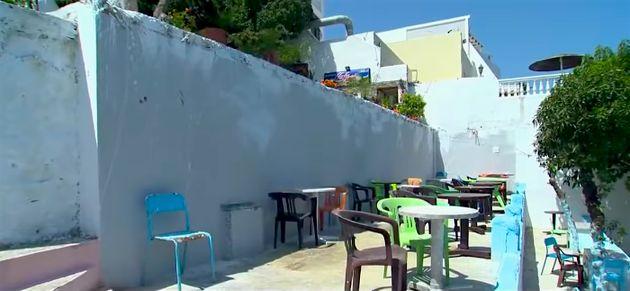 La terrasse du café Hafa après les travaux qui ont causé sa