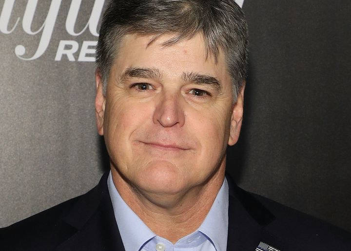Fox News' Sean Hannity, a frequent critic of major media outlets, appears at a New York event honoring powerful media figures