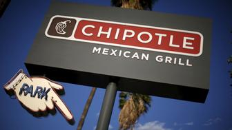 A Chipotle Mexican Grill is seen the day before it announces its first quarter results, in Los Angeles, California, United States, April 25, 2016. REUTERS/Lucy Nicholson
