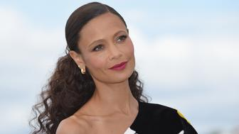 CANNES, FRANCE - MAY 15:  Thandie Newton attends the photocall for 'Solo:  A Star Wars Story' during the 71st annual Cannes Film Festival at Palais des Festivals on May 15, 2018 in Cannes, France.  (Photo by Dominique Charriau/WireImage)