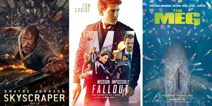 """Skyscraper,"" ""Mission: Impossible -- Fallout"" and ""The Meg"" are all out this weekend and vying for your attention."