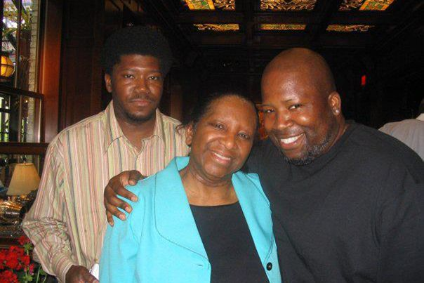 Jeanette Nelson celebrates Mother's Day in 2007 with sons George Everett Nelson (left), now 49, and Dwayne Elliot Nelson, now
