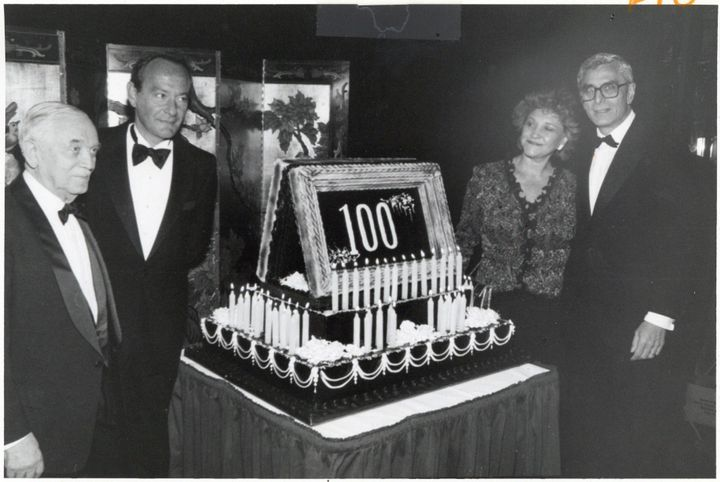 Newman, second from the left, at Beth Israel Medical Center's centennial ball, spent the bulk of his career advocating f