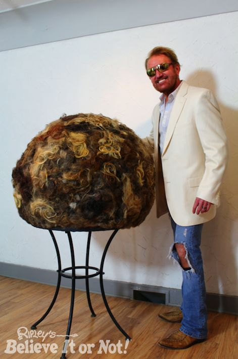 For two years, Steven Warden, a hair salon owner from Cambridge, Ohio, has been gluing hair from clients into a giant ball. T