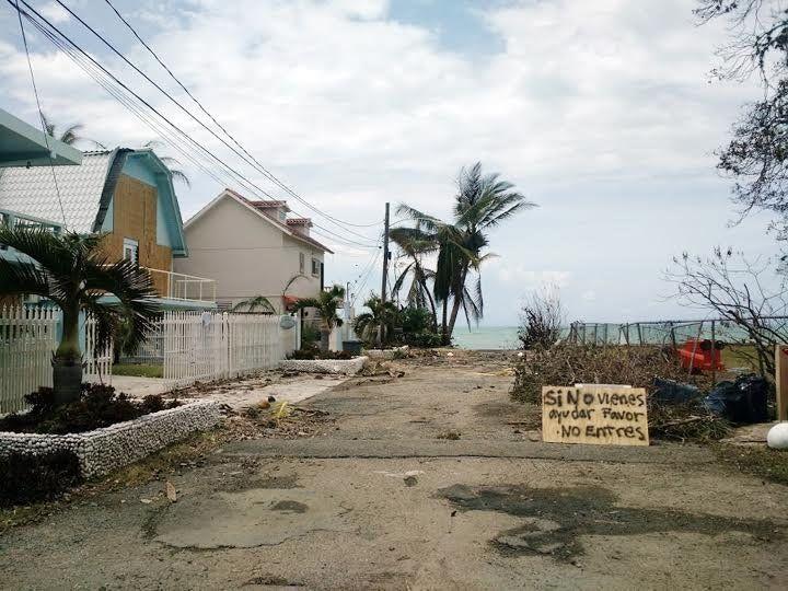 Tres Sirenas hotel, owned by Wanda Acosta and her partner, inRincón, Puerto Rico, the morning Hurricane Maria ma