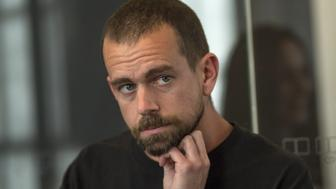 Jack Dorsey, co-founder and chief executive officer of Twitter Inc., listens during an interview in San Francisco, California, U.S., on Thursday, March 2, 2017. Electronic-payment company, Square Inc., run by Dorsey, is offering a range of new services, including loans and software that lets customers manage inventory and analyze sales. Photographer: David Paul Morris/Bloomberg via Getty Images