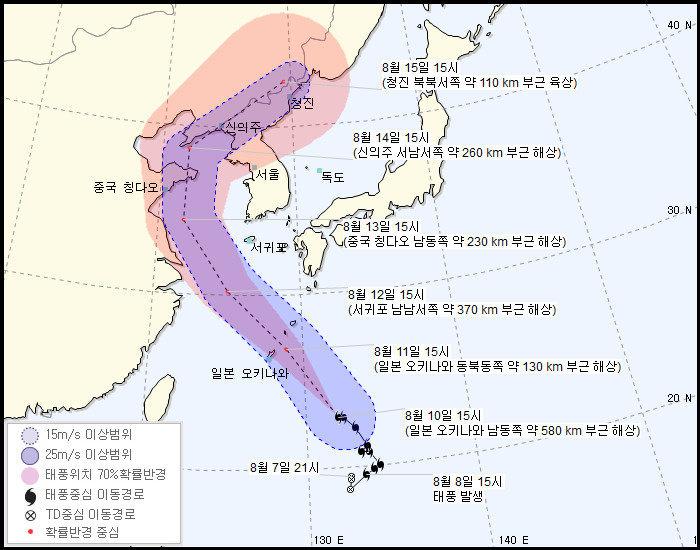 태풍 '야기'가 한국의 폭염에 미치게 될 영향은? (예상
