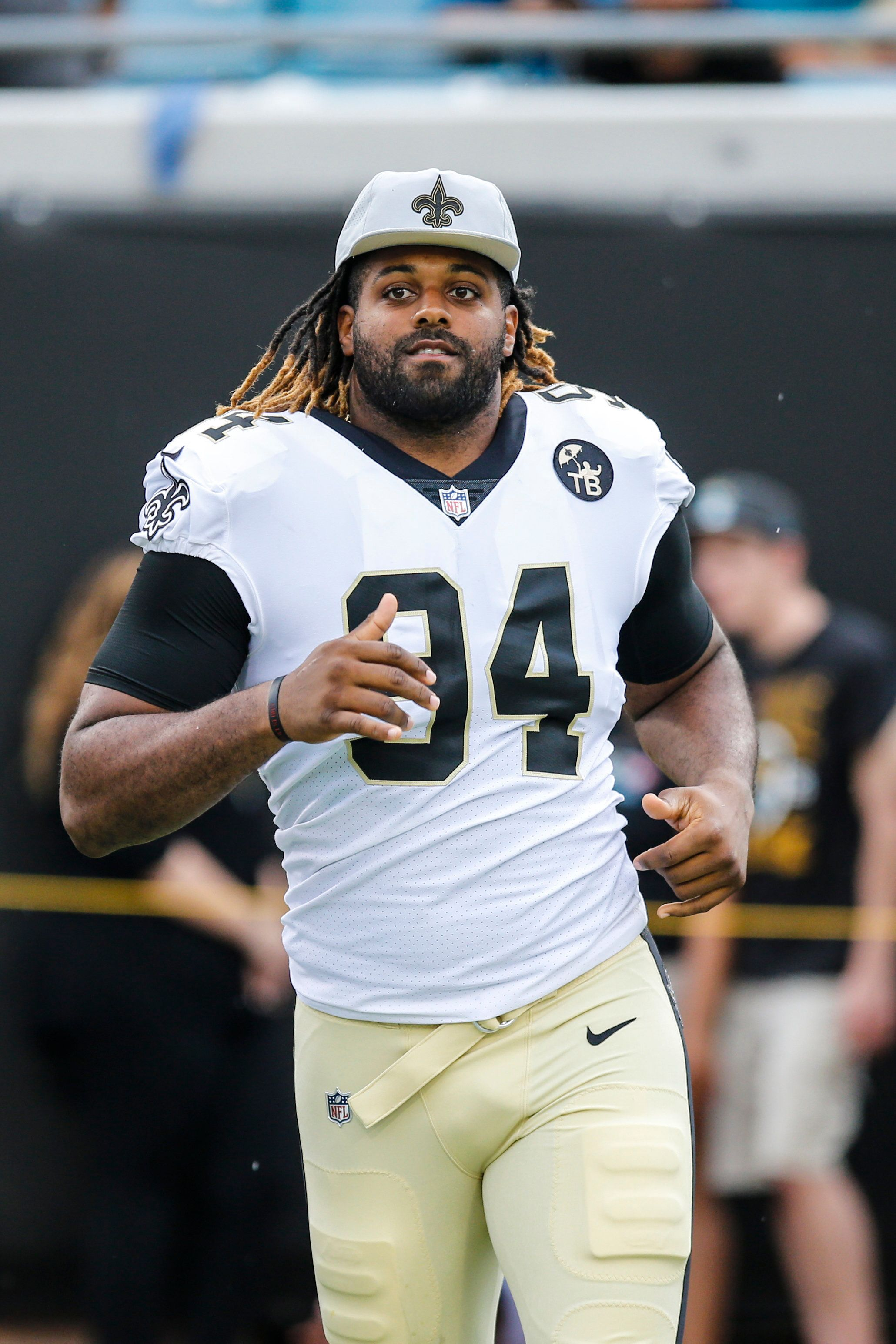JACKSONVILLE, FL - AUGUST 09: New Orleans Saints defensive end Cameron Jordan (94) runs out on the field during the game between the New Orleans Saints and the Jacksonville Jaguars on August 9, 2018 at TIAA Bank Field in Jacksonville, Fl. (Photo by David Rosenblum/Icon Sportswire via Getty Images)