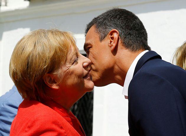 Kanzlerin Angela Merkel zu Besuch bei Spaniens Permier Pedro Sanchez