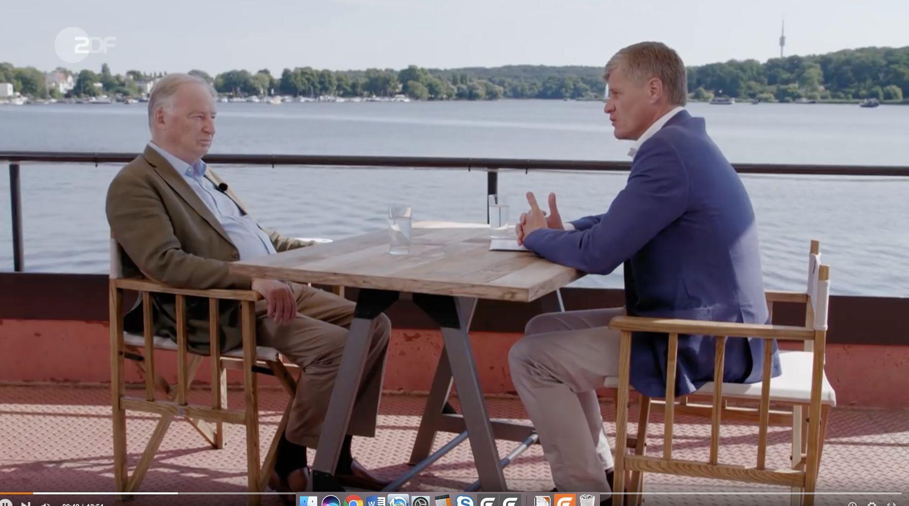 """ZDF-Reporter zu AfD-Chef Gauland: """"Bei wichtigen Themen haben Sie nichts"""