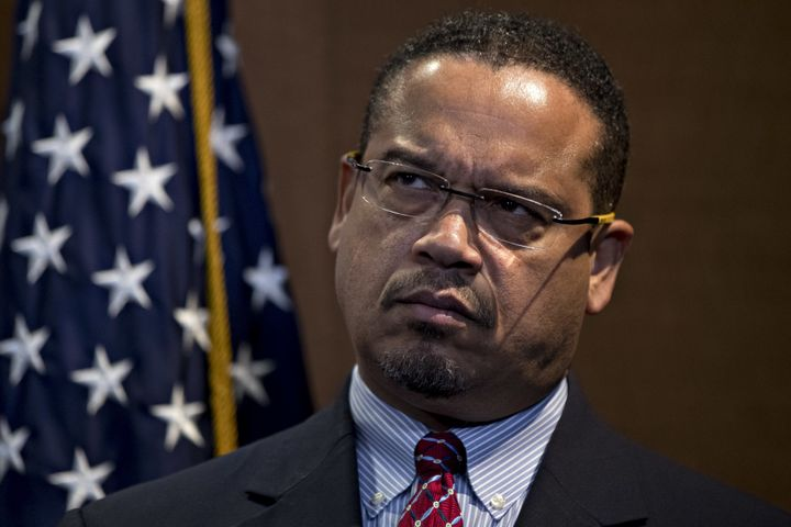 Rep. Keith Ellison (D-Minn.) on Sunday denied abusing a woman with whom he had a long-term relationship until 2016.