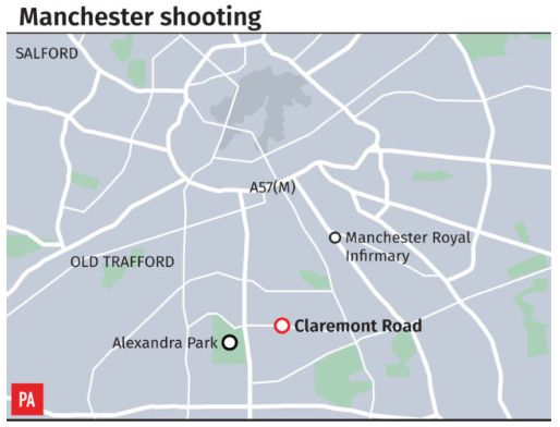 Manchester Moss Side Shooting Leaves Twelve People