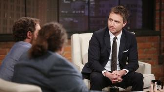 Jorge Garcia, Scott Gimple and Chris Hardwick - Talking Dead _ Season 5, Episode 17 - Photo Credit: Jordin Althaus/AMC