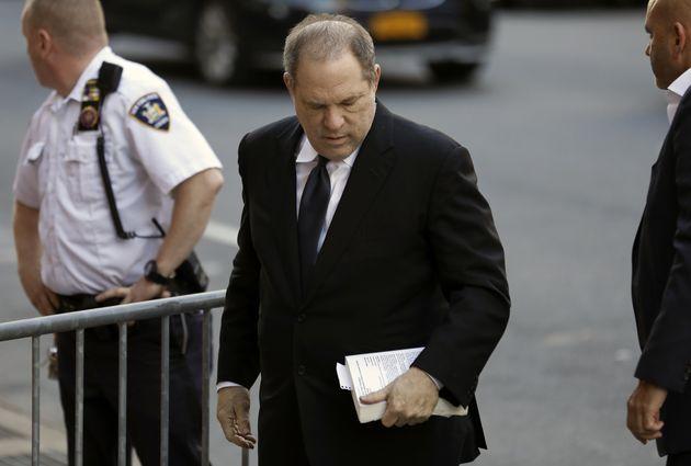 Harvey Weinstein arriving in court last