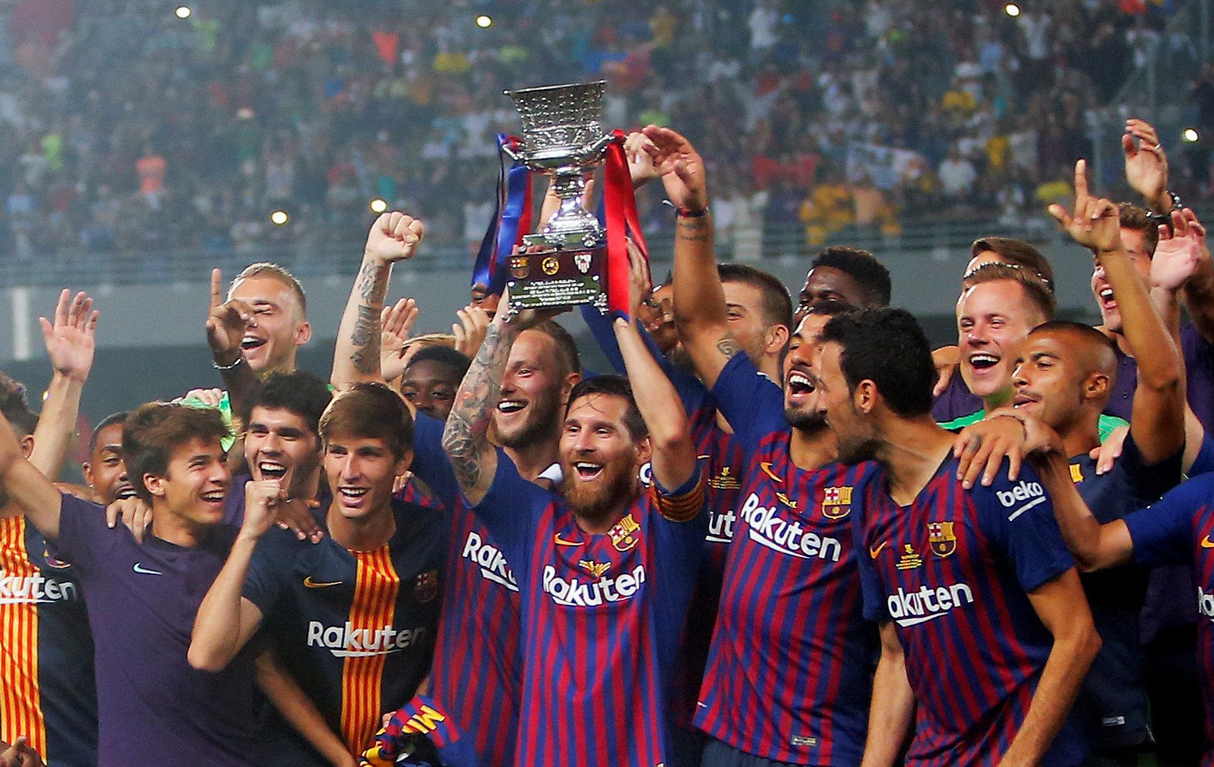 Supercoupe: Le FC Barcelone remporte son premier trophée de la saison à