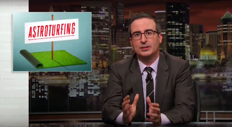 John Oliver discusses astroturhing on LastWeek Tonight