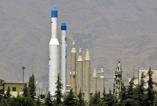Des répliques de missiles dans un musée à Téhéran, le 17 juillet