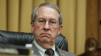 Representative Bob Goodlatte, a Republican from Virginia and chairman of the House Judiciary Committee, listens during a hearing on Capitol Hill in Washington, D.C., U.S. on Thursday, June 28, 2018. The House approved a Republican-backed resolution demanding that the Justice Department turn over all remaining documents sought by congressional committees on the investigation into Russian election interference and President Donald Trump's campaign. Photographer: Joshua Roberts/Bloomberg via Getty Images
