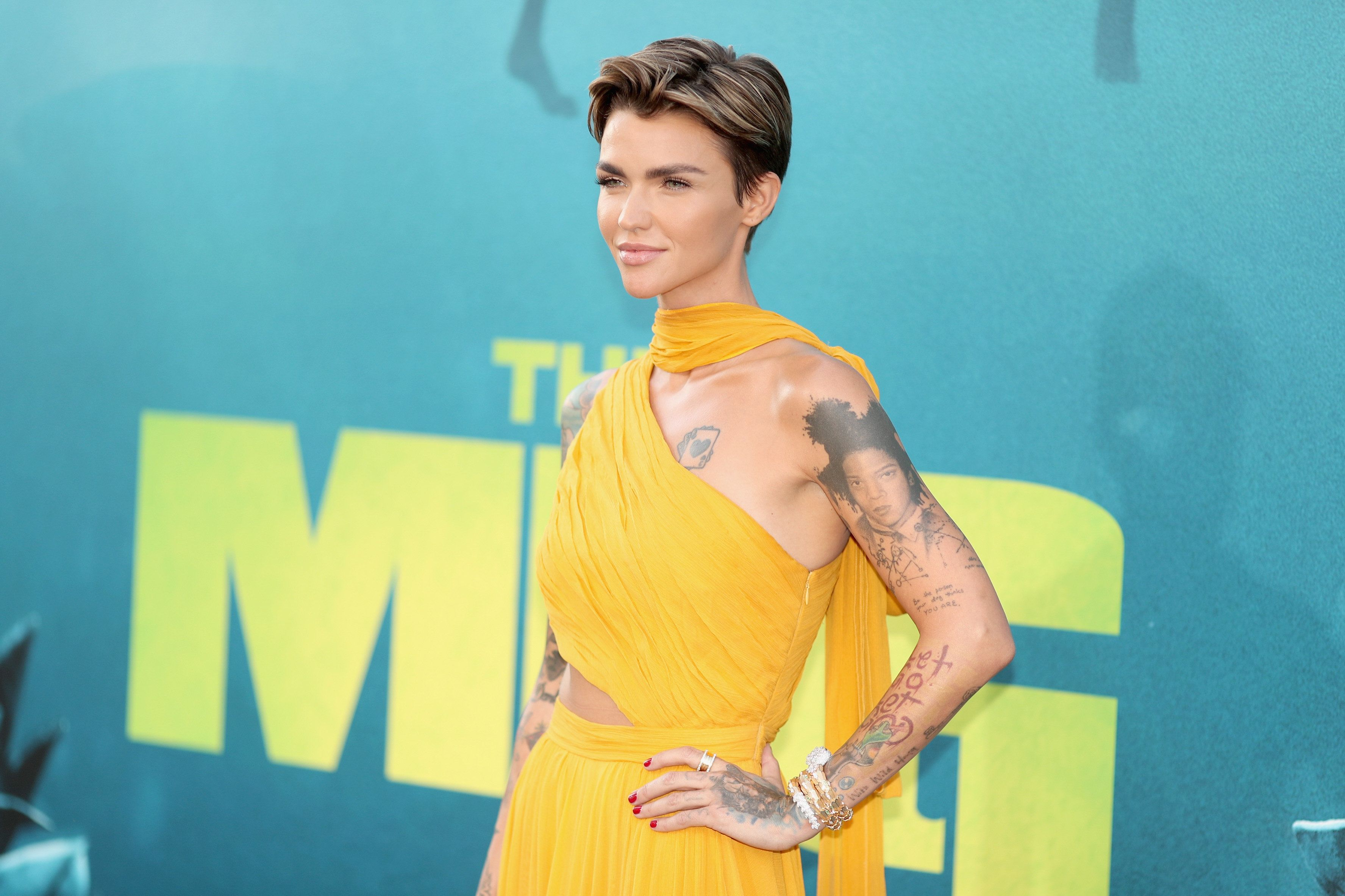 HOLLYWOOD, CA - AUGUST 06:  Ruby Rose attends Warner Bros. Pictures And Gravity Pictures' Premiere of 'The Meg' at TCL Chinese Theatre IMAX on August 6, 2018 in Hollywood, California.  (Photo by Christopher Polk/Getty Images)