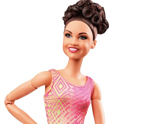 Barbie is rolling out a new doll made in Olympic gymnast Laurie Hernandez's likeness.